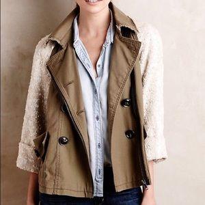 NWOT Anthropologie Hei Hei Shimmer-Sleeve Jacket
